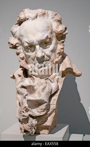 Bust of FRANCISCO JOSÉ DE GOYA Y LUCIENTES (1746-1828) Sculptor Mariano Benlliure 1862-1947  Spain Spanish - Stock Photo