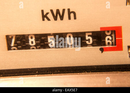 electricity meter background (kwh) - Stock Photo