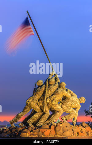 US Marine Corps War Memorial, also known as the Iwo-Jima Memorial at Arlington, Virginia, USA. - Stock Photo