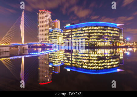 Media City UK Salford Quays Greater Manchester England UK GB EU Europe - Stock Photo