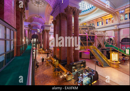 The Royal Exchange Theatre Interior St Anns Square Manchester city centre Greater Manchester England UK GB EU Europe - Stock Photo