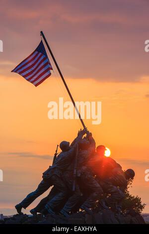 US Marine Corps War Memorial, also known as the Iwo-Jima Memorial at Arlington, Virginia, USA. - Stock Photo