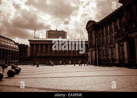 19th Century Architecture, monumental buildings in a marvelous English city - Stock Photo