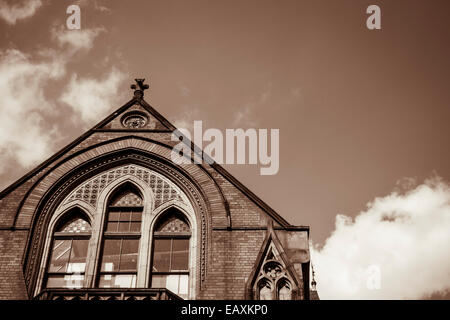 Victorian Church, spectacular ecclesiastical architecture in a marvelous British town - Stock Photo