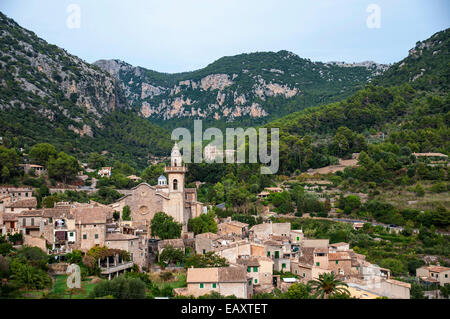 Valdemosa beautiful village on the island of Mallorca in Spain - Stock Photo