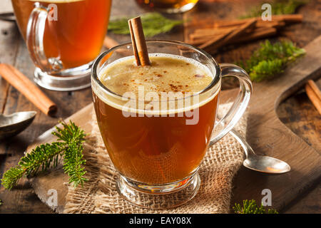 Homemade Hot Buttered Rum for the Holidays - Stock Photo