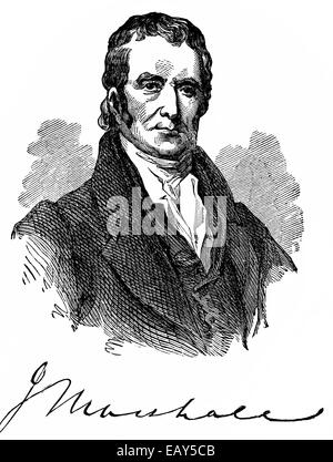 portrait of John Marshall, 1755 - 1835, American politician, lawyer, Secretary of State, founder of the Constitutional - Stock Photo