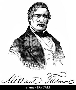 portrait of Millard Fillmore, 1800 - 1874, a US-American politician and 13th President of the United States of America, - Stock Photo