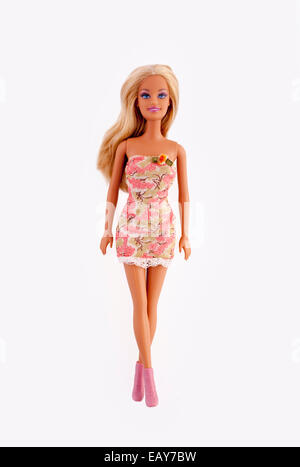 Barbie doll, isolated on white. - Stock Photo