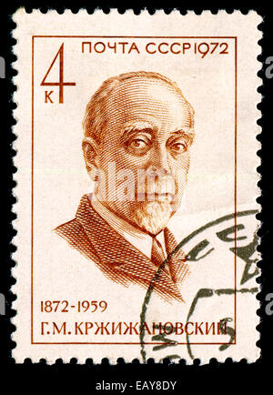 USSR - CIRCA 1972: The postal stamp printed in USSR is shown by the man, CIRCA 1972. - Stock Photo