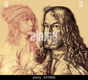 Albrecht Duerer the Younger, 1471 - 1528, a German painter, printmaker, mathematician and theorist at the time of - Stock Photo