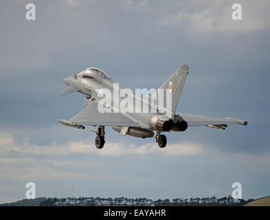Eurofighter Typhoon FRG4 Military Fast Jet Fighter.  SCO 9178. - Stock Photo