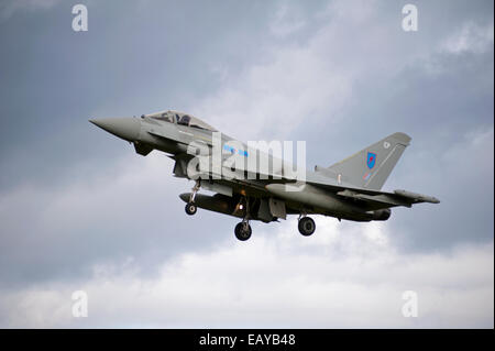 Eurofighter Typhoon FRG4 Military Fast Jet Fighter - Stock Photo