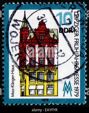 GERMAN DEMOCRATIC REPUBLIC - CIRCA 1979: A stamp printed in Germany from the 'Leipzig Spring Fair' issue shows Max - Stock Photo