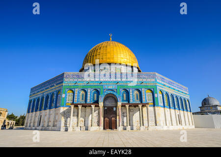 Jerusalem, Israel at the Dome of the Rock, one of the oldest works of Islamic Architecture. - Stock Photo