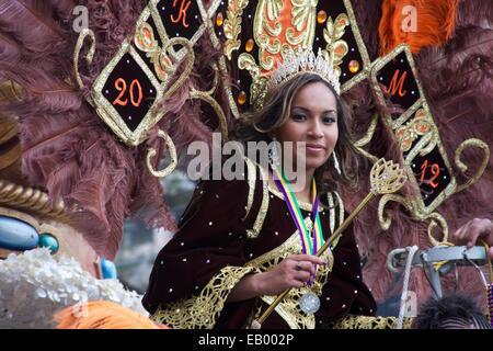 Krewe of NOMTOC Parade, Mardi Gras, New Orleans, LA - Stock Photo