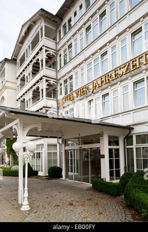 Rügen - Hotel 'Vier Jahreszeiten' at Binz - Mecklenburg-West Pomerania, Germany, Europe - Stock Photo