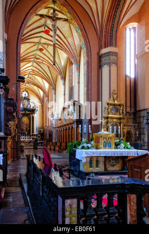 The Archcathedral Basilica of the Assumption of the Blessed Virgin Mary and Saint Andrew in Frombork, Poland. Stock Photo