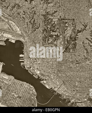 historical aerial photograph San Diego, California, 1994 - Stock Photo