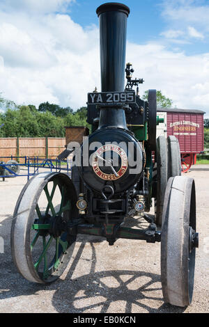 Biggleswade, UK - 29 June 2014: Vintage 1914 Clayton and Shuttleworth Convertible Traction Engine on display at - Stock Photo