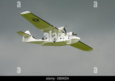 Biggleswade, UK - 29 June 2014:  Consolidated Catalina  PBY5A, 'Miss Pickup' at the Shuttleworth Collection air - Stock Photo