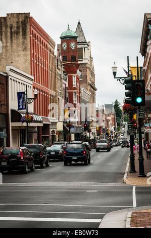 West Beverley Street, Staunton, Virginia - Stock Photo