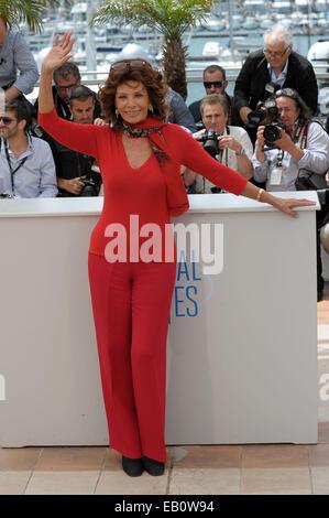 The 67th Annual Cannes Film Festival - 'Sophia Loren Presents Cannes Classic' - Photocall  Featuring: Sophia Loren - Stock Photo