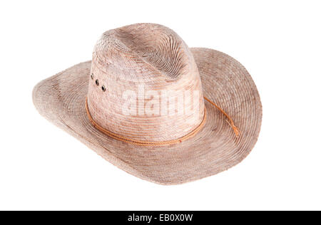 Men's cowboy hat isolated on white background - Stock Photo