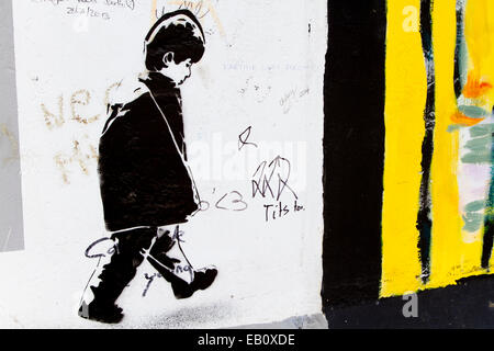 graffiti by banksy stock photo royalty free image 19104461 alamy. Black Bedroom Furniture Sets. Home Design Ideas