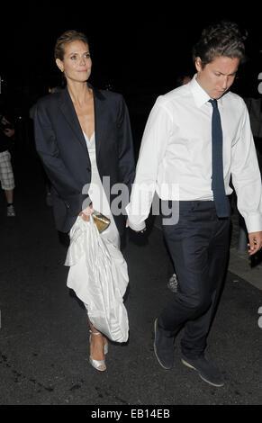 The 67th Annual Cannes Film Festival - Roberto Cavalli Boat Party  Featuring: Heidi Klum,Vito Schnabel Where: Cannes, - Stock Photo