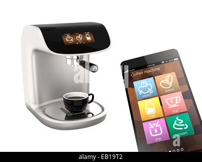 Stylish coffee machines with touch screen. Original design. - Stock Photo