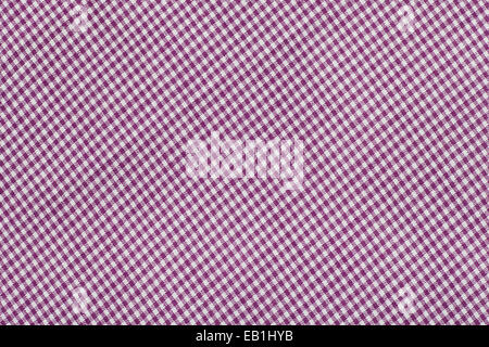 purple tartan pattern, checkered  fabric - Stock Photo