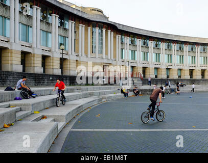 Bristol, England - October 31st, 2014: Lloyds Banking Group, Bristol - Canons House with the  amphitheatre outside.