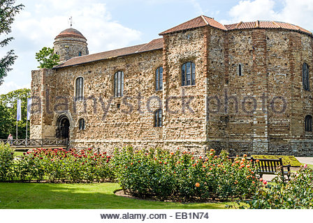 Colchester Castle in Colchester; Essex is an example of a largely complete Norman castle. The castle has had various - Stock Photo