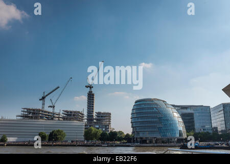 City Hall, home of the Mayor of London and the London Assembly, was designed by Sir Norman Foster and opened in - Stock Photo