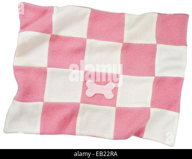 pink and white doggie blanket - Stock Photo