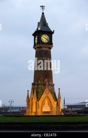 Clock Tower, Skegnes. Built in 1898-99 it is one the most distinctive landmarks in Skegness - Stock Photo