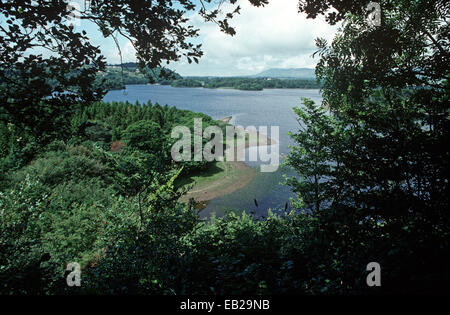 LOUGH GILL, COUNTY SLIGO, IRELAND REFERRED TO BY POET, DRAMATIST AND NOBEL PRIZE WINNER IN LITERATURE, WILLIAM BUTLER - Stock Photo