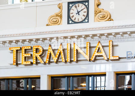 Remodeled historical Union Station in Denver, Colorado. - Stock Photo