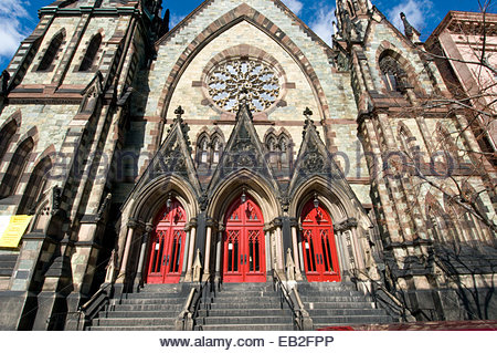 The Mount Vernon Place United Methodist Church, in Baltimore, was completed in 1872. - Stock Photo