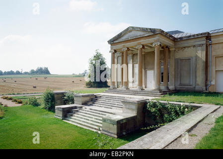 The south terraces and east front of the orangery, Northington Grange, Hampshire, UK 1809 - Stock Photo