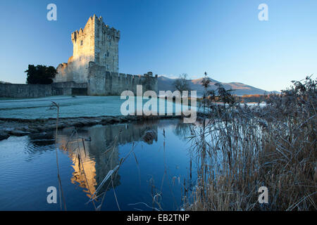 Winter at Ross Castle, Lough Leane, Killarney National Park, County Kerry, Ireland. - Stock Photo