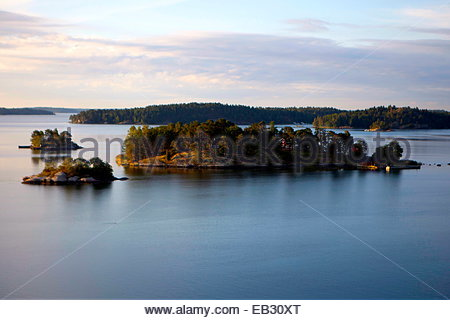 View of the Archipelago in Sweden. - Stock Photo