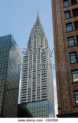 The art deco Chrysler Building in midtown Manhattan. - Stock Photo