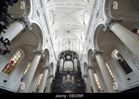 Interior, Chapelle Notre Dame du Finistère church, Brussels, Brussels Region, Belgium