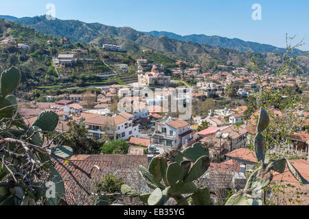 The village of Galata in the Troodos Mountains of central Cyprus, an island in the Mediterranean. - Stock Photo