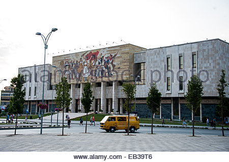 The National History Museum in Tirana, Albania. - Stock Photo