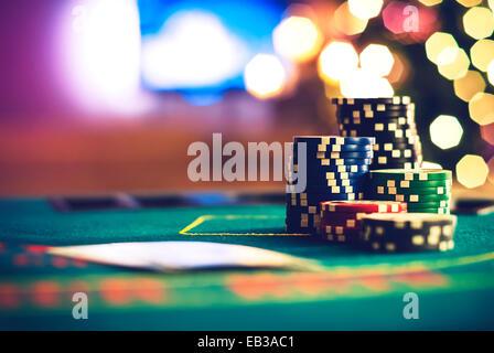 Christmas poker - Stock Photo