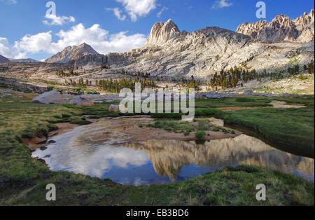 USA, California, Reflections in Miter Basin - Stock Photo