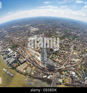 UK, England, Aerial view of Shard in London - Stock Photo